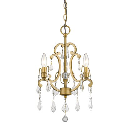 Manorhaven 3-Light Candle-Style Chandelier