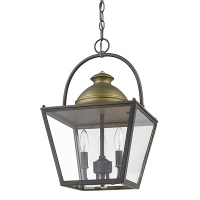 Samarth Indoor 3-Light Lantern Pendant