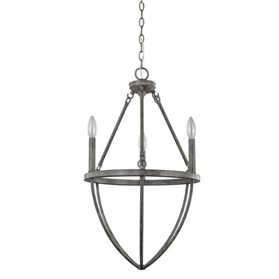 Burhall 3-Light Candle-Style Chandelier
