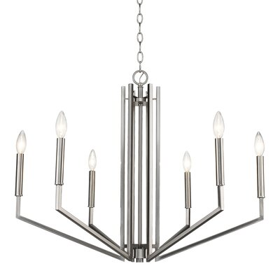 Hasson 6-Light Candle-Style Chandelier