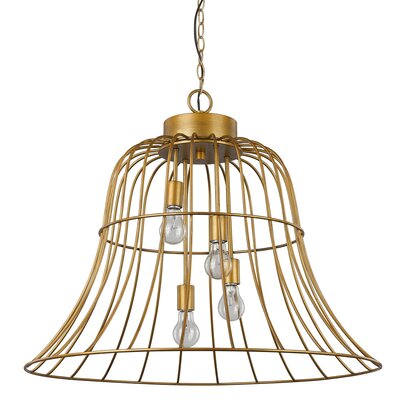 Sherrard Bell-Shaped 4-Light Inverted Pendant