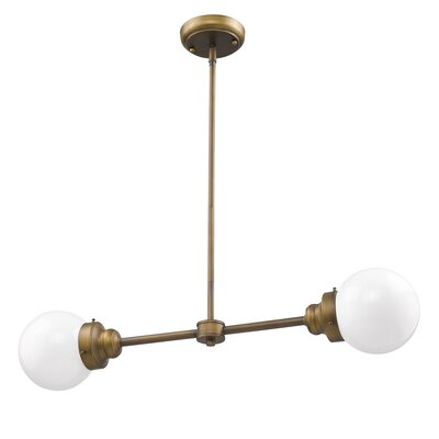 Weisberg 2-Light Sputnik Chandelier