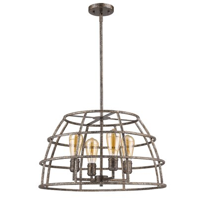 Guillaume Solid 4-Light Foyer Pendant