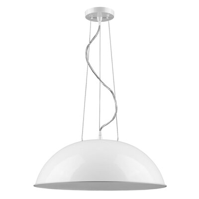Hatten 1-Light Inverted Pendant Finish: White