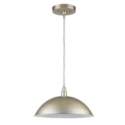 Hatten 1-Light Inverted Pendant Finish: Washed Gold