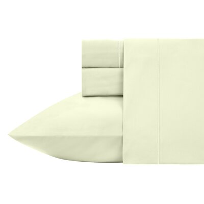 Kensley 400 Thread Count 100% Cotton 4 Piece Sheet Set Size: King, Color: Bok Choy