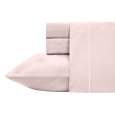 Kensley 400 Thread Count 100% Cotton 4 Piece Sheet Set Size: King, Color: Pink