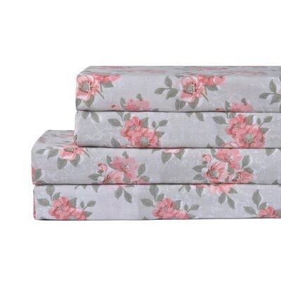 Lylah 100% Cotton 4 Piece Sheet Set