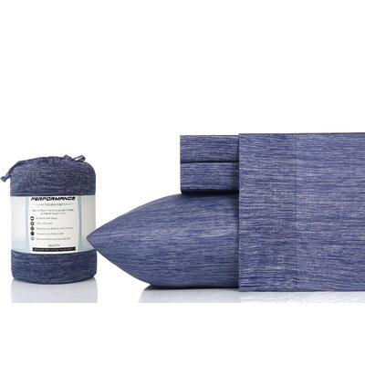 Cortland 100% Cotton Sheet Set Size: King, Color: Navy Chambray
