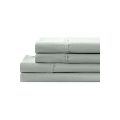 Georges 300 Thread Count 100% Cotton 4 Piece Sheet Set Size: King, Color: Classic Grey