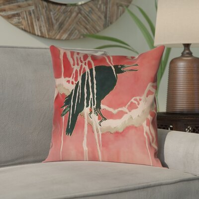 Montreal Crow and Willow 100% Cotton Pillow Cover Size: 16 x 16