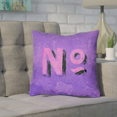 Enciso Graphic Wall Outdoor Throw Pillow Size: 16 x 16, Color: Purple/Pink