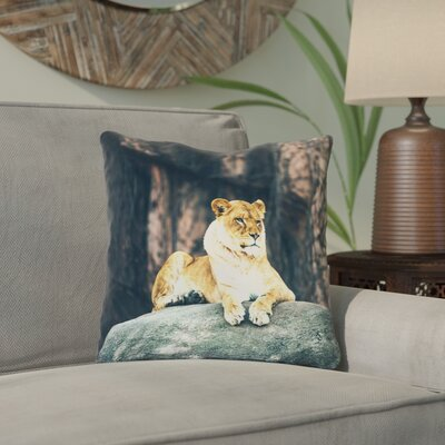 Thatcher Lioness Indoor/Outdoor Throw Pillow Size: 20 x 20