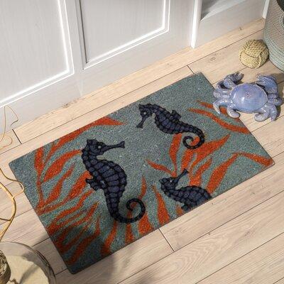Elizebeth Seahorses PVC Bleach Doormat
