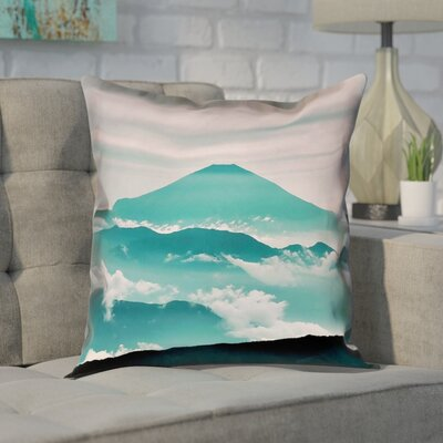 Enciso Fuji Suede Pillow Cover Size: 14 H x 14 W, Color: Green