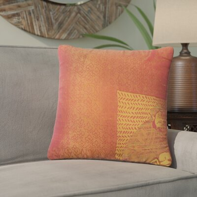Urijah Damask Down Filled 100% Cotton Throw Pillow Size: 24 x 24