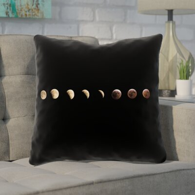 Shepparton Moon Phases Throw Pillow with Zipper Size: 14 x 14