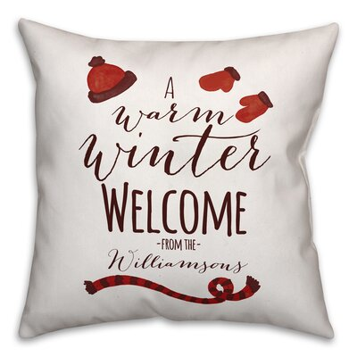Elezi Warm Winter Welcome Throw Pillow