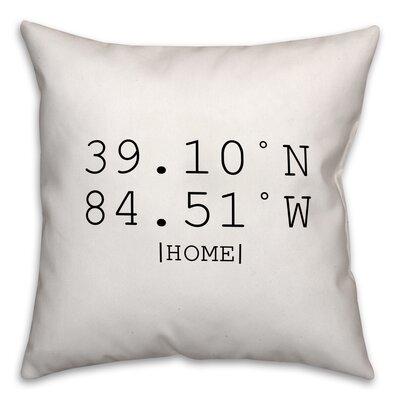 Buntin Longitude and Latitude Coordinates Throw Pillow