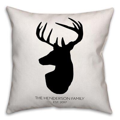 Mentzer Deer Head Throw Pillow
