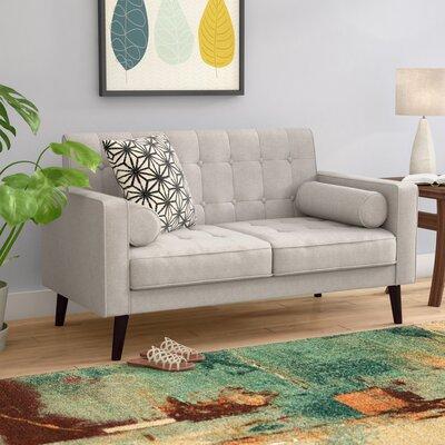Morre Loveseat Upholstery: Beige/Light Grey