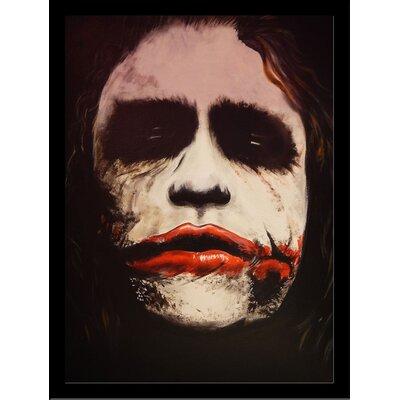 The Dark Knight Batman Movies The Joker 'Why SO Serious' Framed Acrylic Painting Print IF EDC095 8x10 1.25 Black