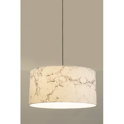 Drum Pendant Shade Finish: White, Size: 12 H x 23.7 W x 23.7 D