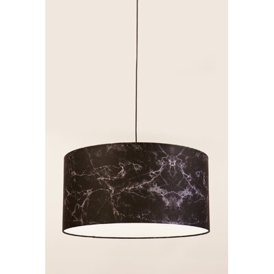 Drum Pendant Shade Finish: Black, Size: 10 H x 13 W x 13 D