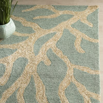 Ismene Blue/Frosty Green Coastal Rug Rug Size: Rectangle 76 x 96