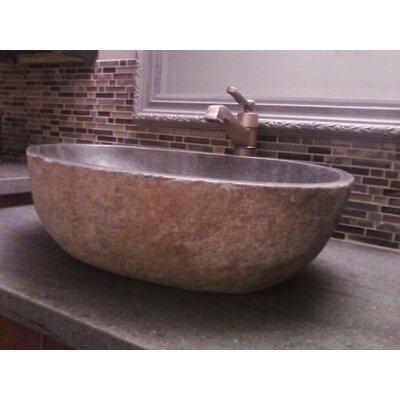 Natural Galet Nobu Boulder Thin Lip Stone Specialty Vessel Bathroom Sink