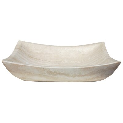 Zen Deep Honed Travertine Rectangular Vessel Bathroom Sink