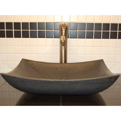 Zen Deep Honed Basalt Rectangular Vessel Bathroom Sink