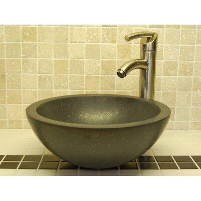 Small Bowl Honed Basalt Circular Vessel Bathroom Sink
