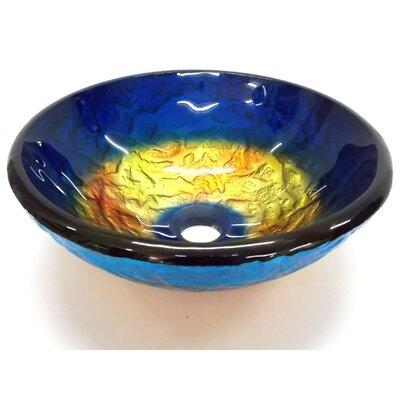 True Planet Glass Circular Vessel Bathroom Sink