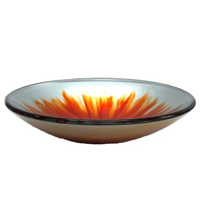 Blossom Glass Circular Vessel Bathroom Sink