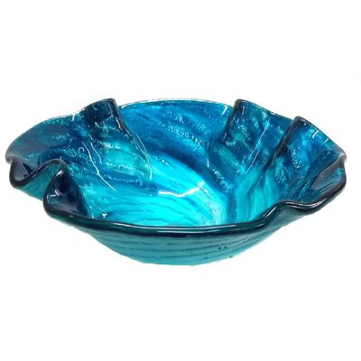 Carribean Wave Glass Specialty Vessel Bathroom Sink