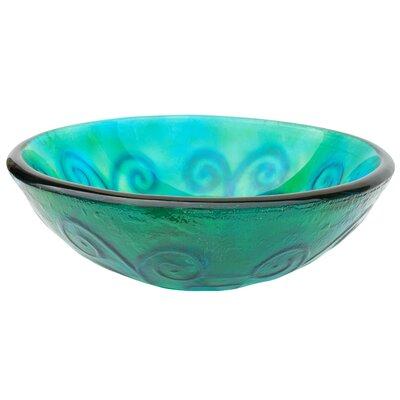 Swirls Glass Circular Vessel Bathroom Sink