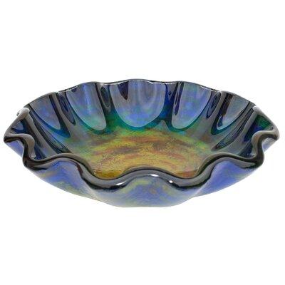 Wave Rim Glass Specialty Vessel Bathroom Sink
