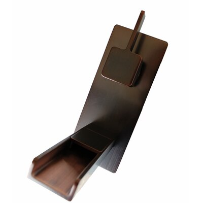 Cascada Waterfall Wall Mounted Single Handle Bathroom Faucet Finish: Oil Rubbed Bronze