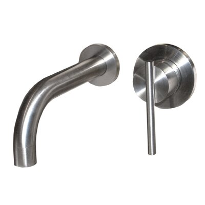 Vessel Wall Mounted Single Handle Bathroom Faucet Finish: Brushed Nickel