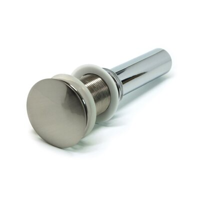 1.63 Pop-Up Bathroom Sink Drain Finish: Brushed Nickel