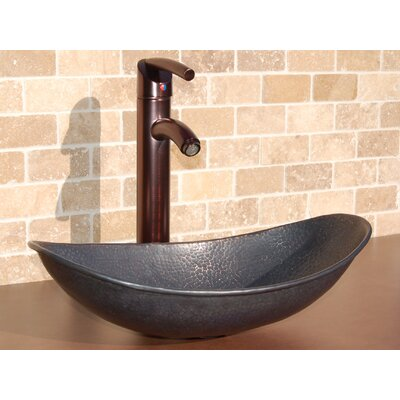 Canoe Oval Vessel Bathroom Sink