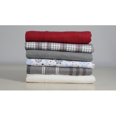 Costigan 100% Cotton 4 Piece Sheet Set Size: King, Color: Burgandy