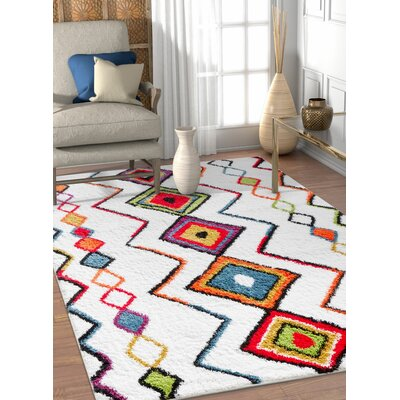 Piatt Moroccan Aztec Cream Area Rug Rug Size: Rectangle 53 x 73