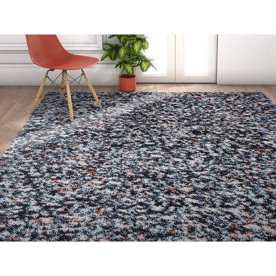 Piatt Mid-Century Shag Blue Area Rug Rug Size: Rectangle 53 x 73