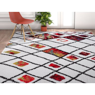 Piatt Moroccan Mid-Century Cream Area Rug Rug Size: Rectangle 3'11