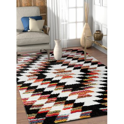 Namboodri Tangier Southwestern Black/Cream Area Rug Rug Size: Rectangle 311 x 53