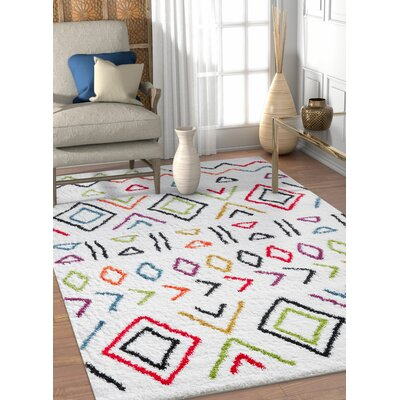 Piatt Moroccan Ethnic Cream Area Rug Rug Size: Rectangle 53 x 73