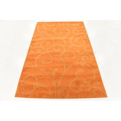 Cartagena Wool Orange Area Rug Rug Size: 4  x 6