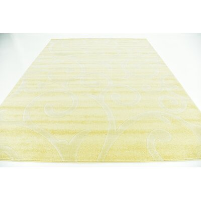 Cartagena Wool Yellow Area Rug Rug Size: 8  x 10